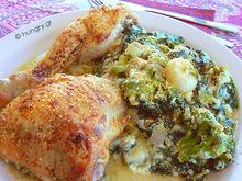 Κοτόπουλο με σπανάκι