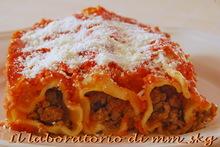 Καννελλονια με γεμιση κιμα  *****  cannelloni al ripieno di carne macinata
