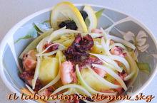 Χλιαρη σαλατα με χταποδι και πατατες  *****  insalata tiepida di polipo e patate