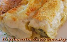 Καννελλονια γεμιστα με σπανακι και φετα  *****  cannelloni ripieni di spinaci e feta