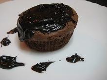 Υγρό κέικ σοκολάτας με ελαιόλαδο (σουφλέ)