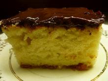 Κέικ με γιαούρτι, λεμόνι και γλάσο σοκολάτας
