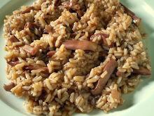 Σουπιες κρασατες με ρυζι  &  πατατες γιαχνι (για μένα)!!