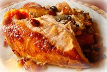 Το γεμιστό κοτόπουλο της τεμπέλας