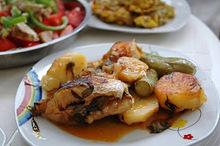 Ψάρι με λαχανικά στο φούρνο