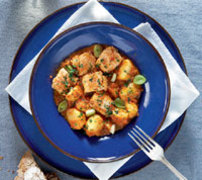 Φρέσκος μπακαλιάρος με λαχανικά