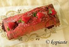 Κέικ φράουλας με ελαιόλαδο και ινδοκάρυδο