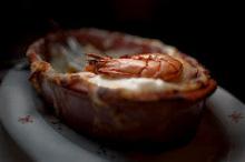 Ψάρι με πατάτες και γαρίδες στο φούρνο
