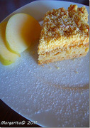 Τριφτή μηλόπιτα με άρωμα πορτοκάλι