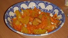 Σαλάτα με τριμμένο καρότο και πορτοκάλι