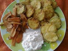 Τηγανητα λαχανικα με κουρκουτι και χωρις