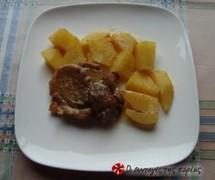 Χοιρινό με πορτοκάλι και ανανά