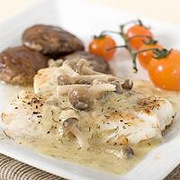 Ψάρι με σάλτσα σαμπάνιας
