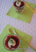 Ορεκτικό με παντζάρι, σκορδάτο παξιμάδι και μους μυζήθρας-Beet-garlicky rusk-mizithra mousse appetizer
