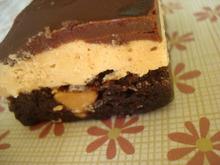 Chocolate-peanut butter fudge bars