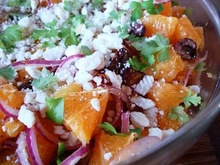 Recipe: mediterranean navel orange salad with red onion, olives and feta