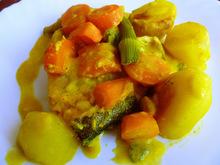 Ψάρι gratin με λαχανικά