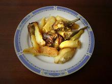 Αγκινάρες με πατάτες στο τηγάνι