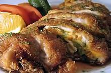 Κοτόπουλο γεμιστό με σπανάκι  πιπεριά φλωρίνης & φέτα δωδώνης