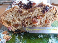 Κέικ με ξερά φρούτα (σύκα ή δαμάσκηνα ή βερίκοκα)