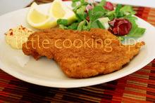 Τραγανό σνίτσελ κοτόπουλου / crispy fried chicken (chicken schnitzel)