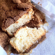 Gluten-free coconut cake with egg whites
