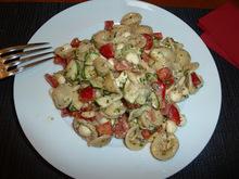 μια από τις σαλάτες ζυμαρικού που προτιμώ