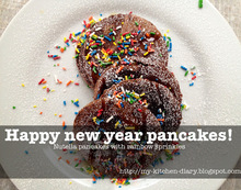 Nutella pancakes - new year's breakfast!