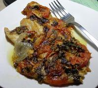 Ψάρι γλώσσα με λαχανικά στό φούρνο !