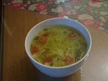 Ζεστη σουπα με ντοματινια