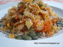 Πολύσπορη σαλάτα λαχανικών με σάλτσα σόγιας κ ο θάνατος της δίαιτας- Multiseed soy sauce veggie salad and the death of diets!
