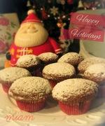 Muffins με μους σοκολάτας και μόκας