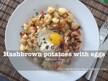 Hashbrown potatoes with eggs
