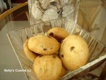 Μπισκότα με μαύρη ζάχαρη και σοκολάτα