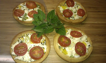 Feta cheese tartlets with fresh herbs