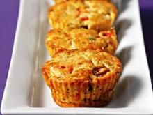 Μίνι muffins με φέτα και πιπεριά