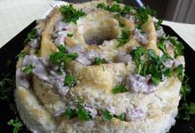 Φόρμα ρυζιού με κοτόπουλο και τυρί κρέμα