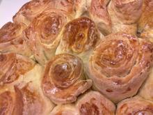 Ψωμι σε σχημα τριανταφυλλου