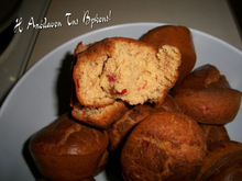 Maffins με ελιά και πιπεριά
