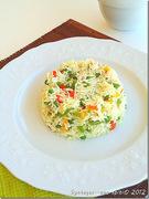 Πολύχρωμο ρύζι με λαχανικά