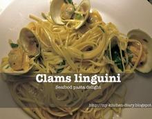 Λινγκουίνι με αχιβάδες, φρέσκια ρίγανη και ξύσμα λεμονιού / clams linguini with fresh oregano and lemon zest