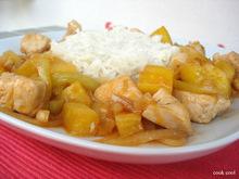 Γλυκόξινο κοτόπουλο με ανανά