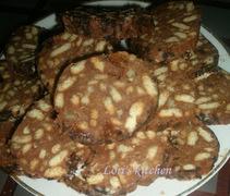 Κορμος σοκολατας με μπισκοτα /salam de biscuiti ciocolatos