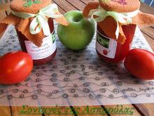 Μαρμελάδα ντομάτα και πράσινα μήλα