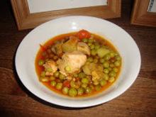 Φρέσκος αρακάς με κοτόπουλο