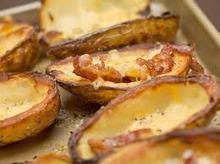 Φλουδες πατατας με μπεικον