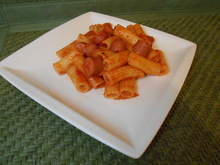 Spicy sausagerigatoni