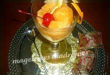 Σορμπέ με λωτό  ανανά και πορτοκάλι
