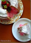 Κέικ έκπληξη με φράουλα!