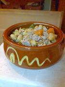Μαγειρευτός κιμάς με ρεβίθια και λαχανικά